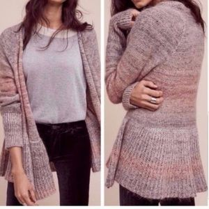 Anthropologie wool warm pink cardigan size m